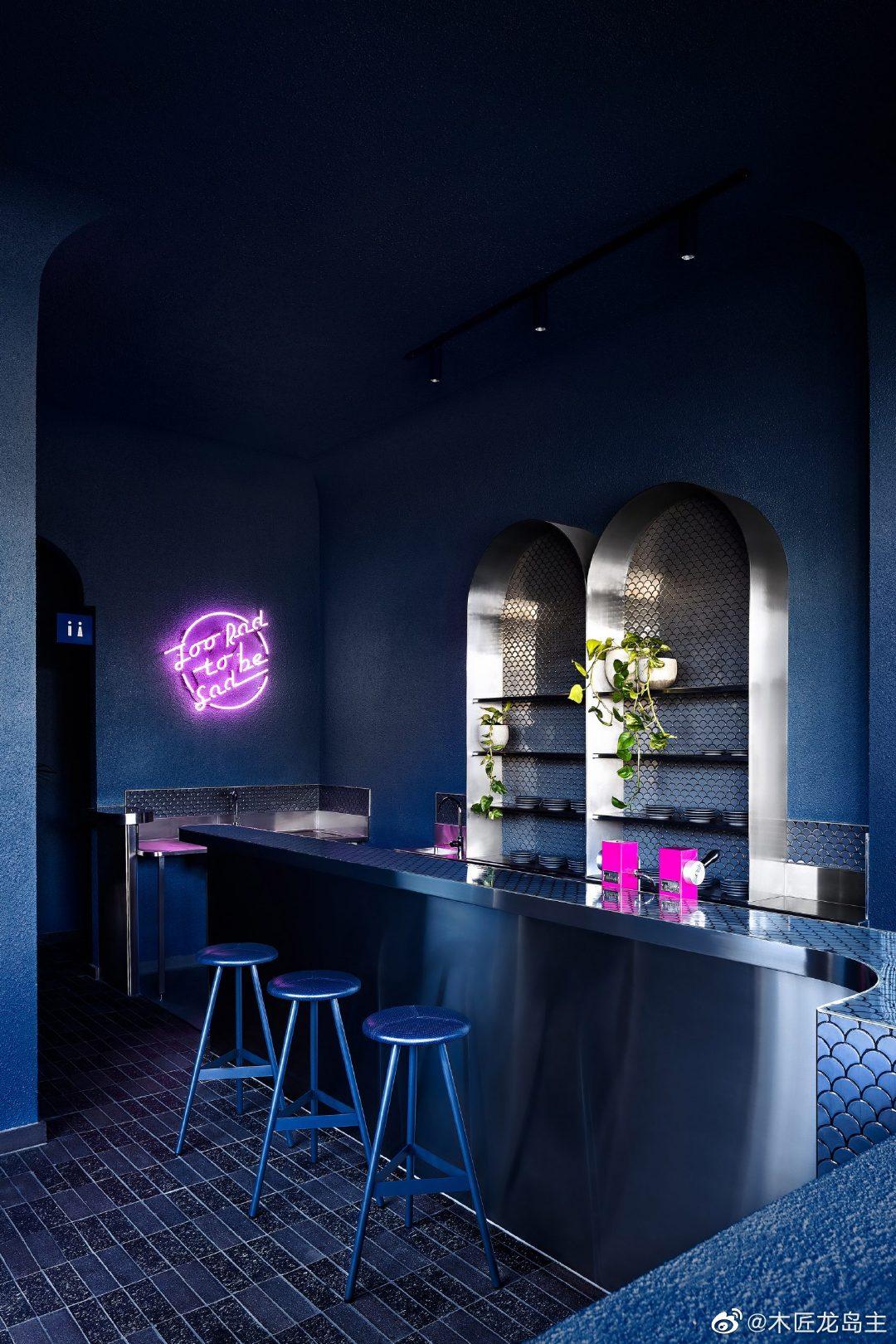 比亚索尔在墨尔本餐厅比莉·鲍里传递着20世纪80年代的怀旧情绪  设计