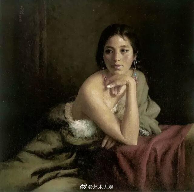 央美老院长靳尚谊油画人物作品专辑他开创了中国油画新古典主义学派