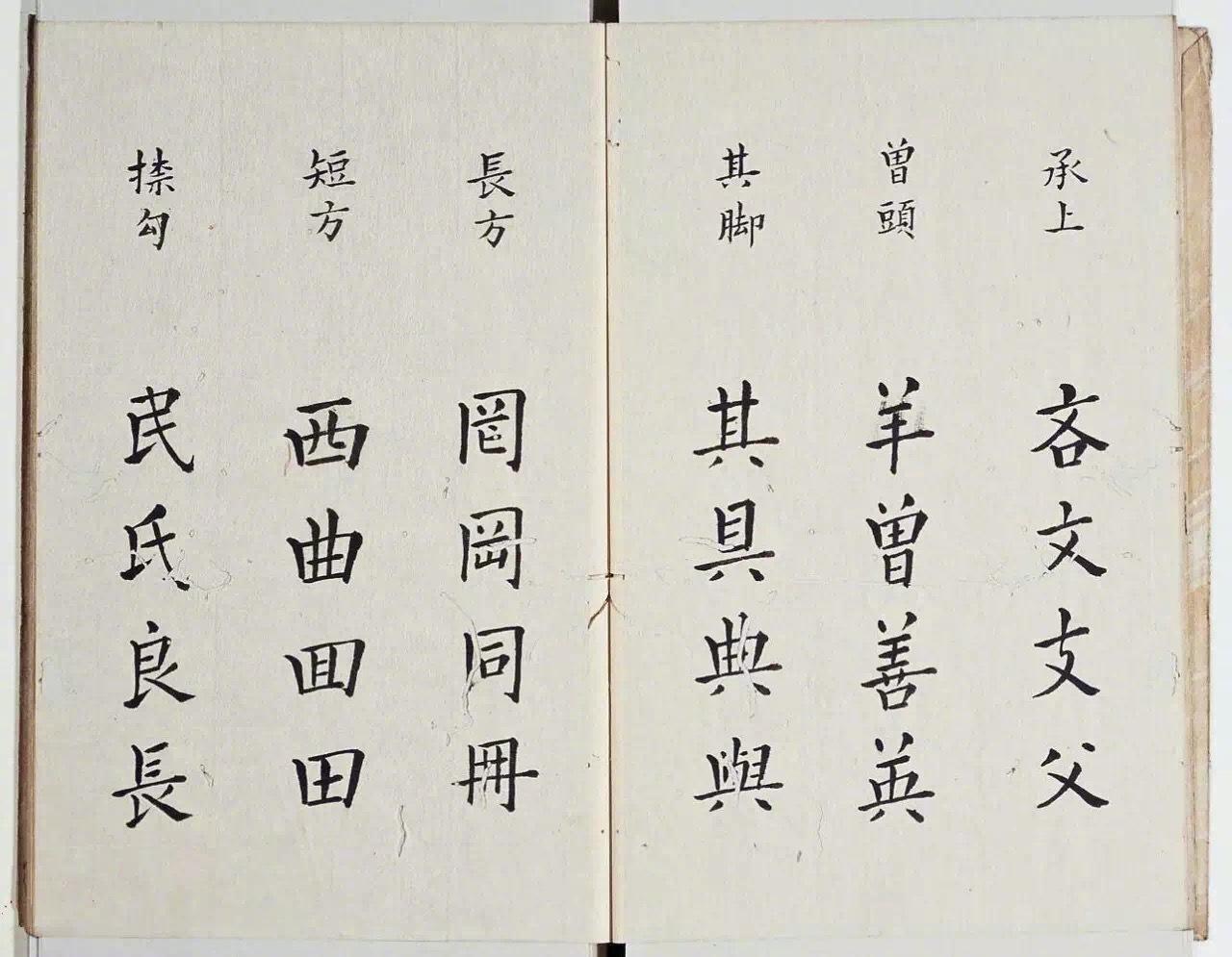 谈楷书结构,明代教材。李淳,明朝人,号憩菴,湖南茶陵人。东阳父