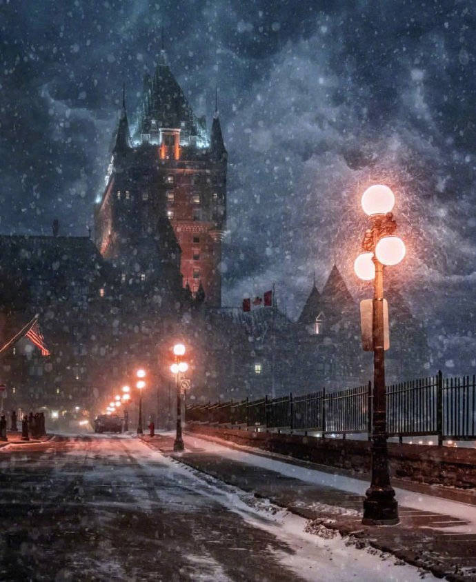 加拿大魁北克,那魔幻的雪国世界。