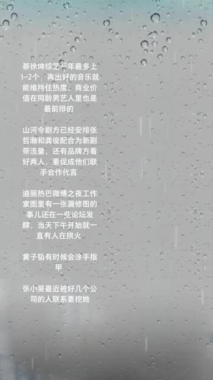 吃瓜:蔡徐坤、《山河令》、迪丽热巴、黄子韬、张小斐