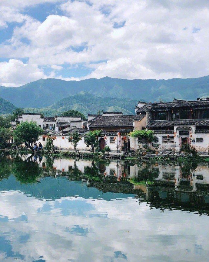 误入水墨画的世界——宏村。