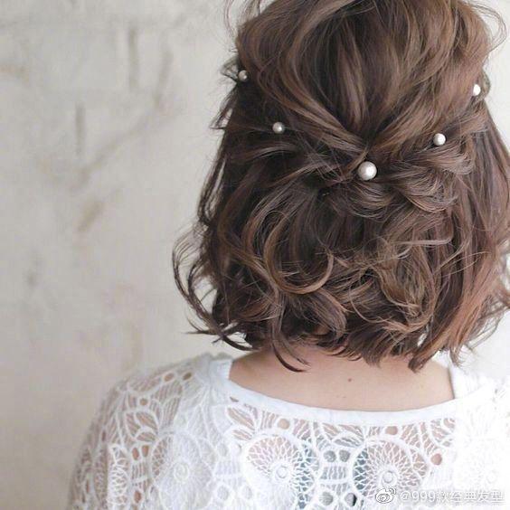 编发和发饰打造的森系发型,又仙又美