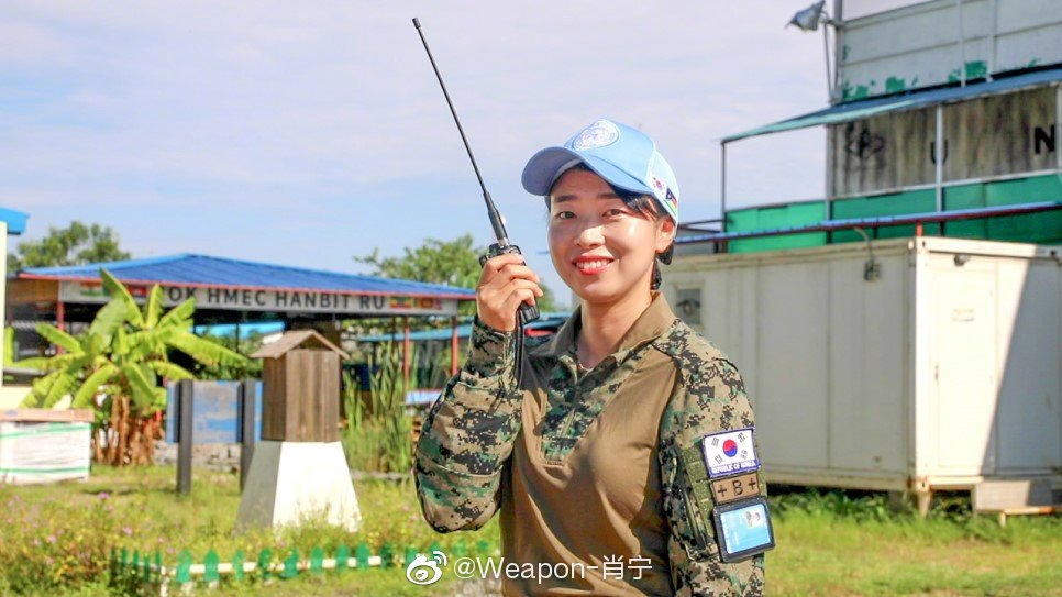 2018年,联合国驻南苏丹维和部队的韩国军队女军人