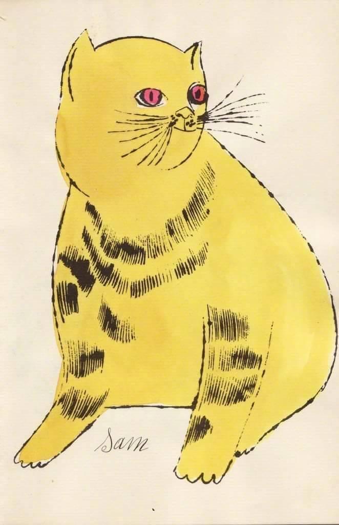 ◱ 用得一手好色彩◪ 安迪·沃霍尔的猫