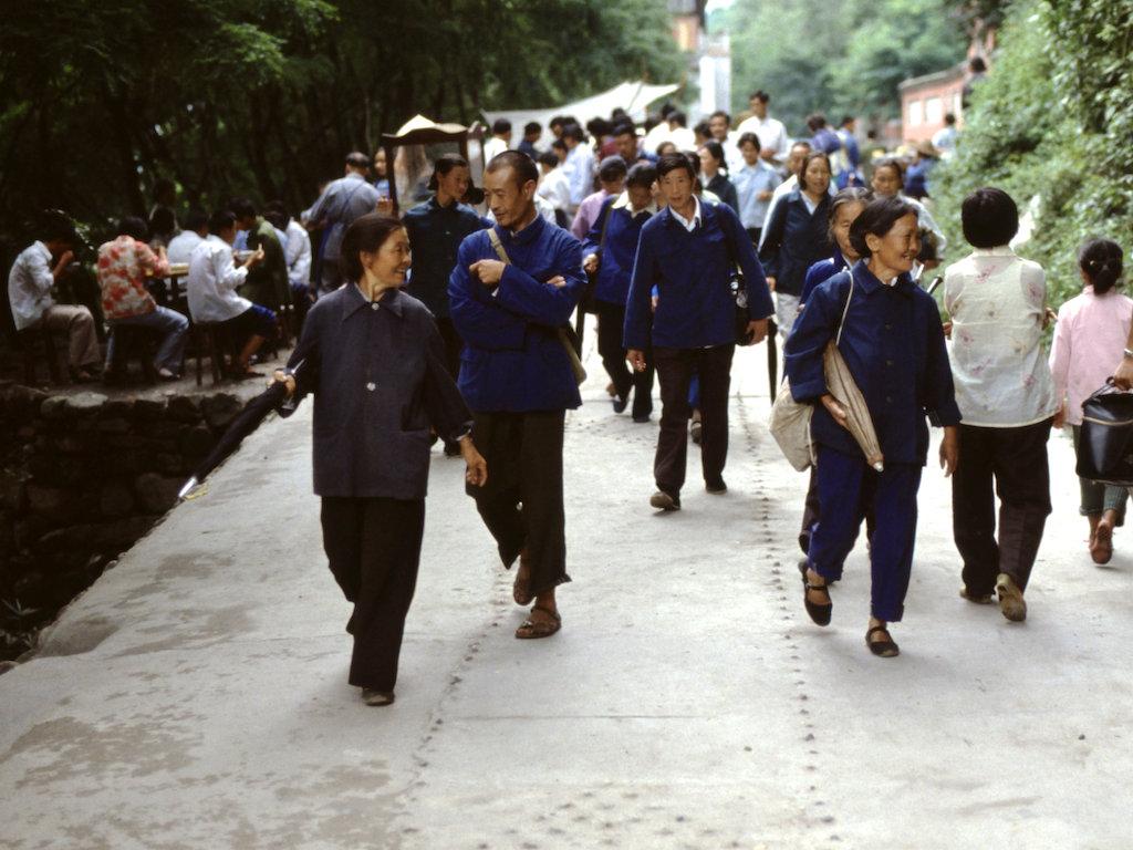 四川峨眉山,1985年。阿德·范德尔