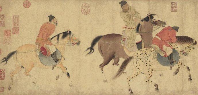 10月8日,一幅元代画家任仁发绘制的《五王醉归图》以3