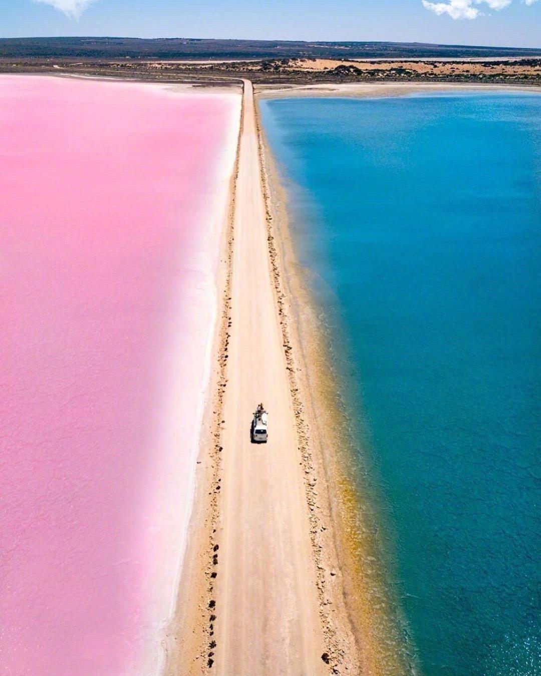 在澳大利亚有一个麦克唐纳尔湖,充满梦幻的少女心