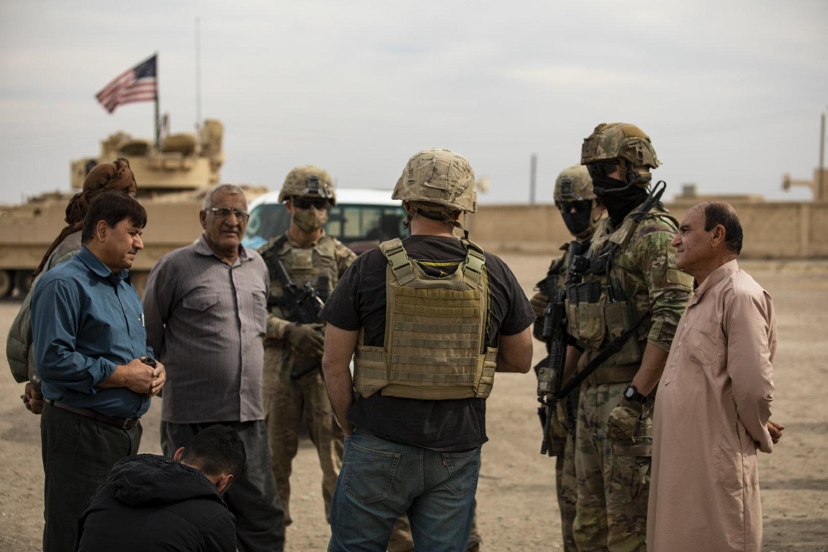 叙利亚东北部的布拉德利 2020年10月25日从中央司令部(CENTCOM)负责
