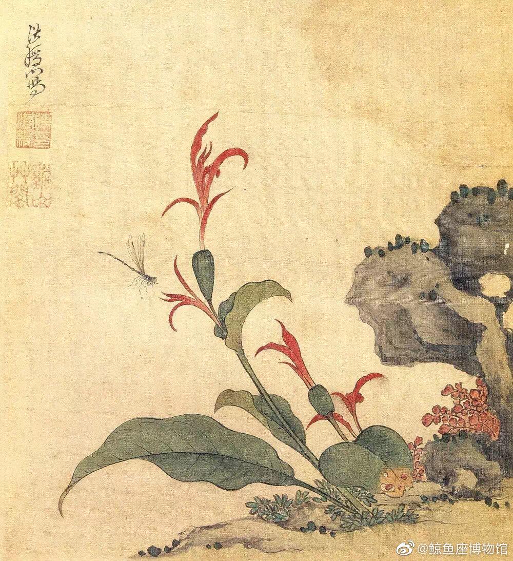 陈洪绶 · 花鸟欣赏 |  设色清丽,简洁古雅。