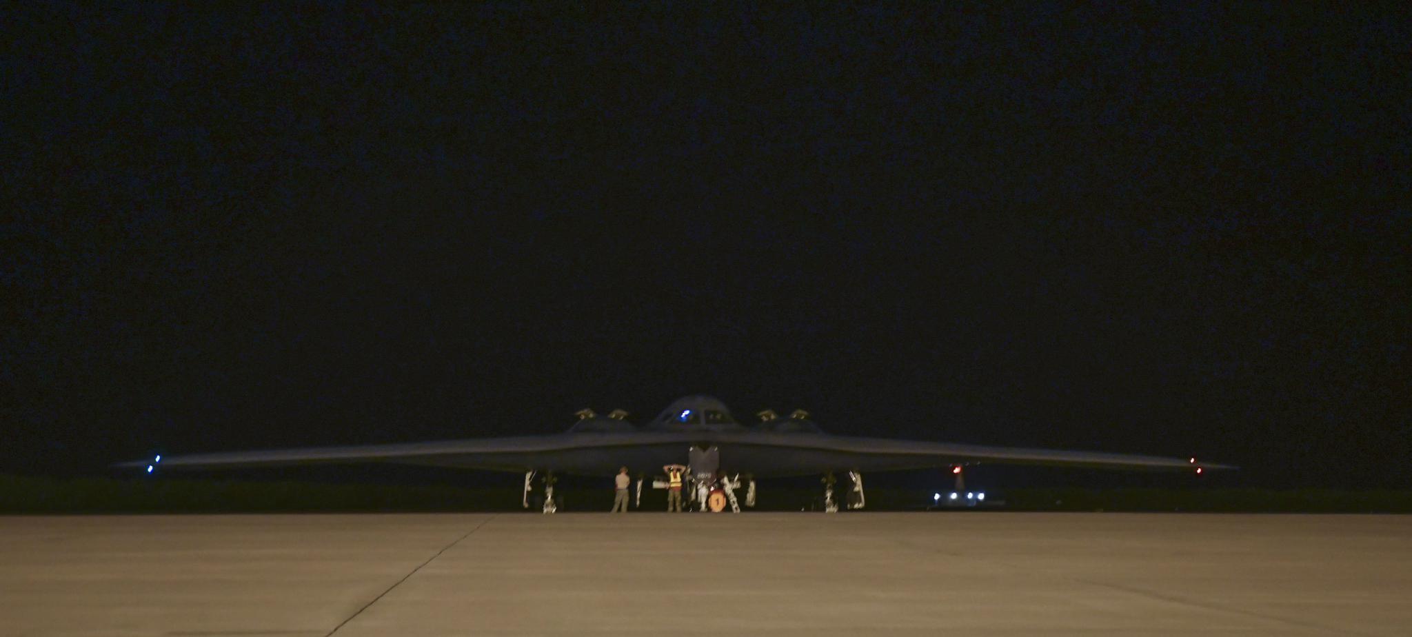 密苏里州怀特曼空军基地第393支远程轰炸机中队的美国空军在2018年8月