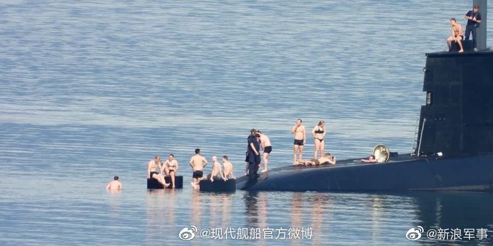 早~! 挪威潜艇喜迎夏季时光,居然还有女艇员身影