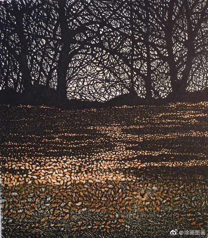 英国艺术家 Phil Greenwood 版画风景