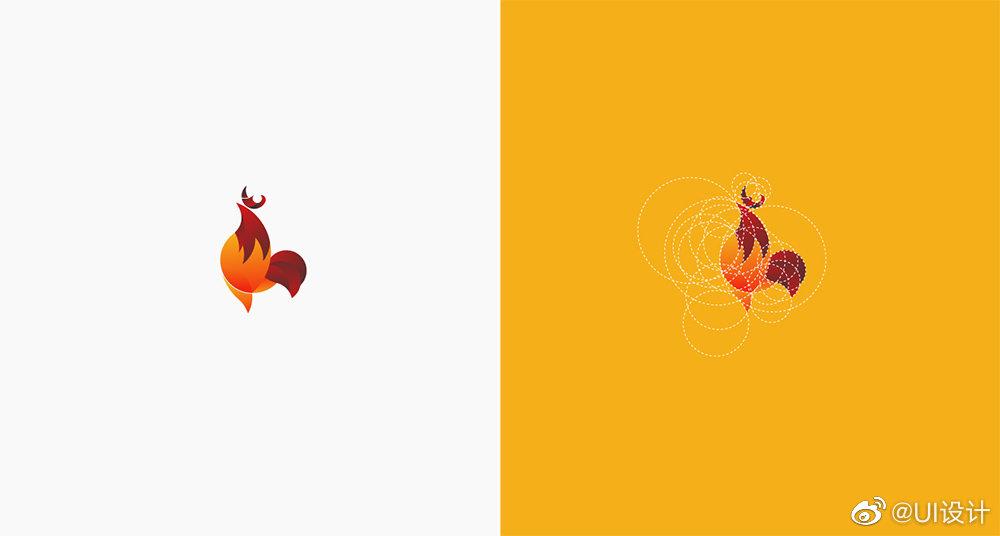 带网格系统时尚色彩Logo设计