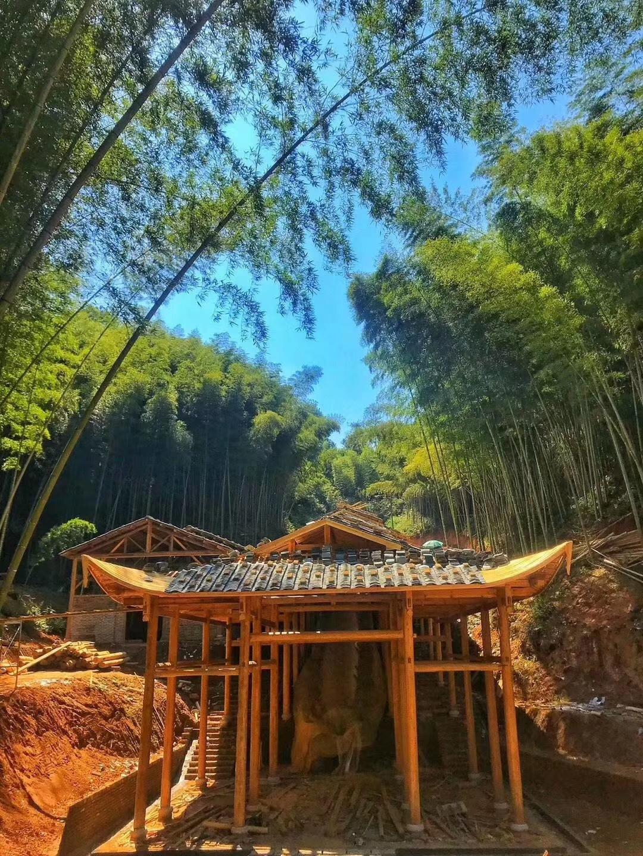 建窑 给龙窑搭上凉棚, 百米建盏龙窑搭建中。