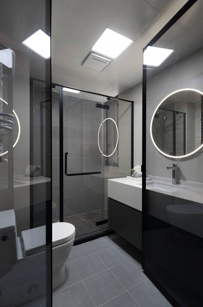 100㎡简约现代风格家居装修,酷酷的高级灰色调干练而个性