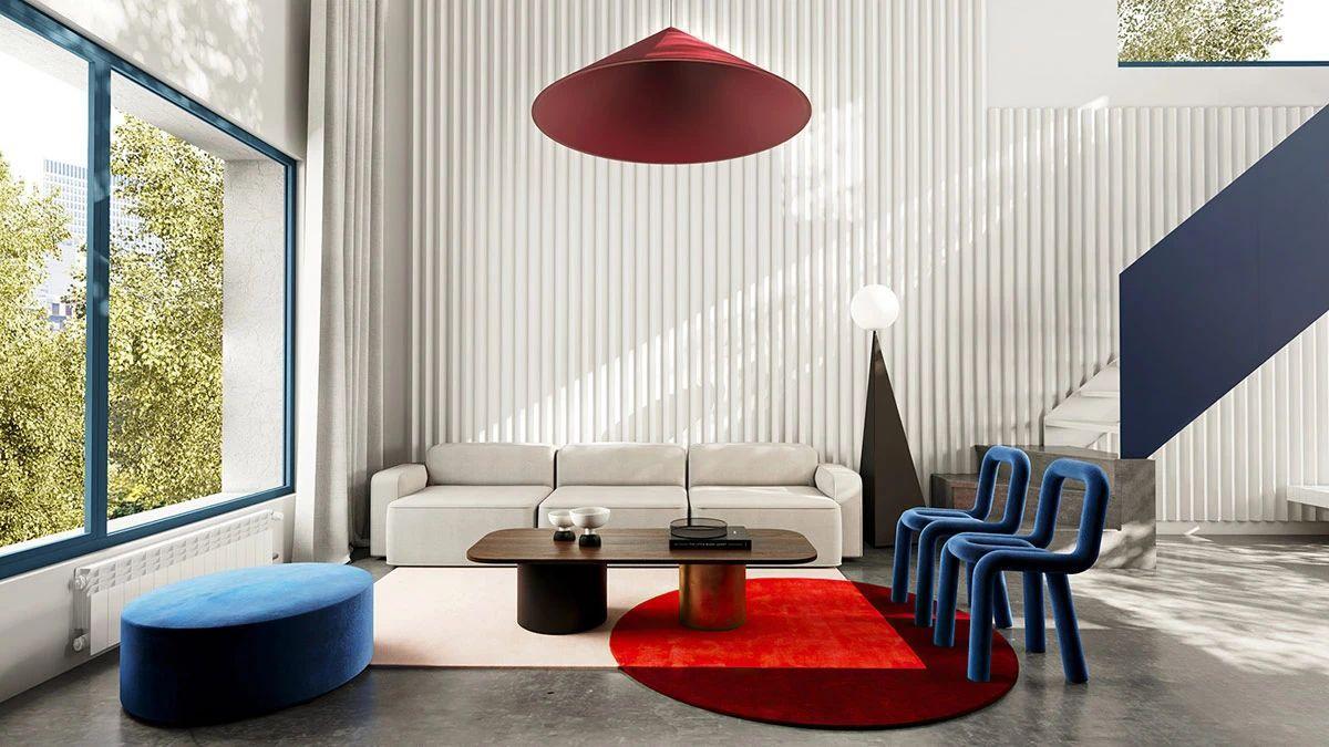 多彩色极简主义,质感时尚家居设计!Cr