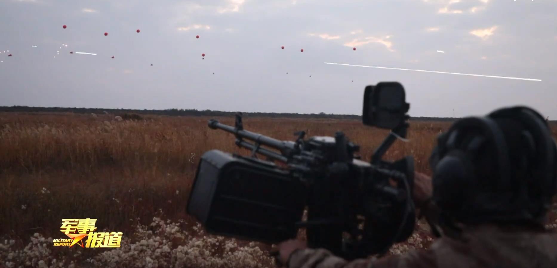 88式车载高机地面防空考核,打空飘气球