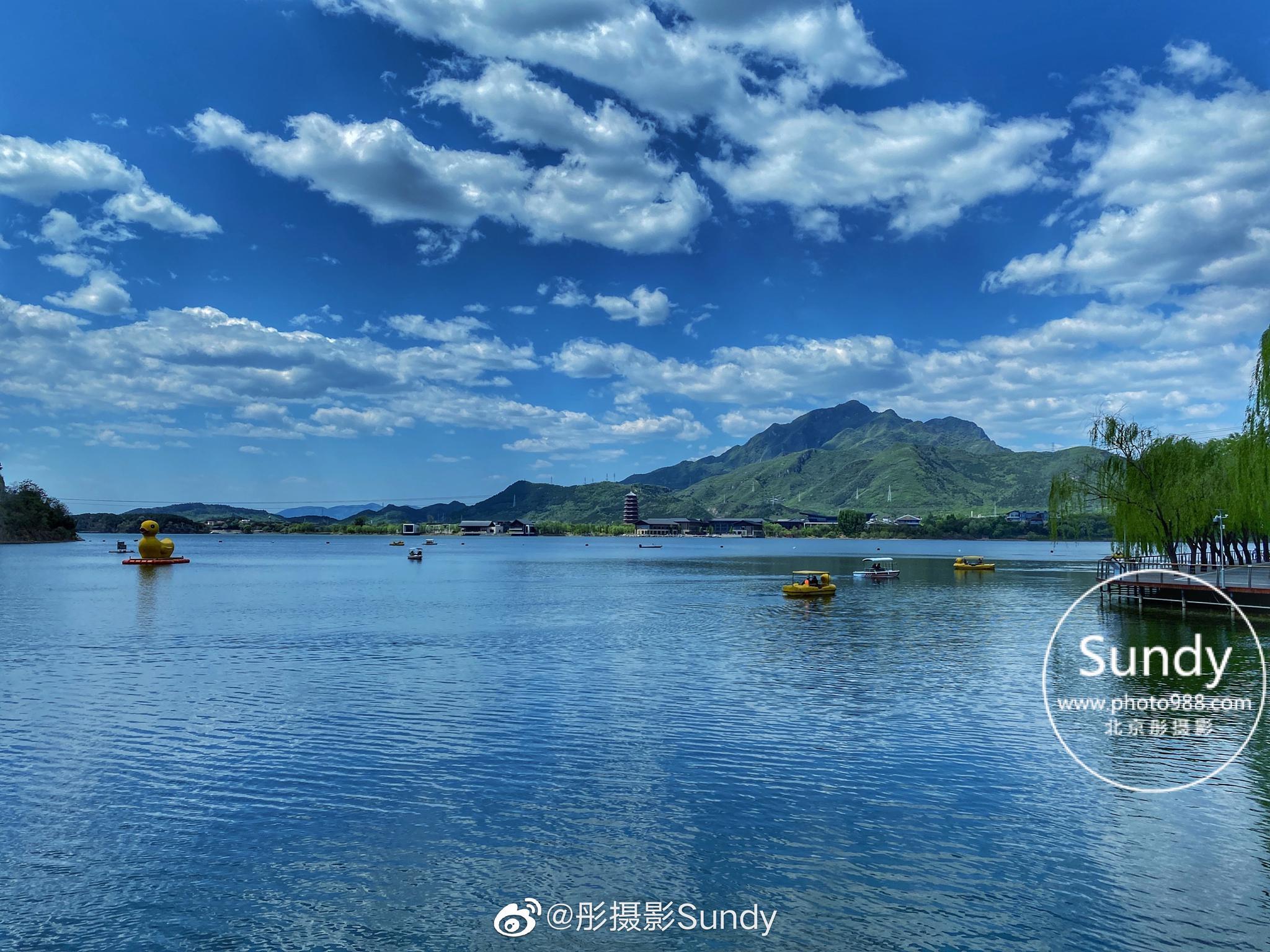 美丽的雁栖湖。