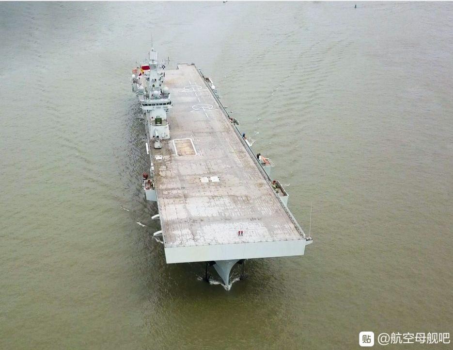 075舰艏的大平板设计植入,早已在十年前就被8所定形了