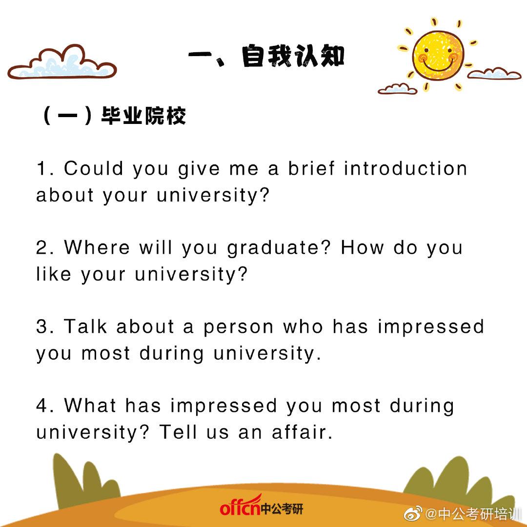 考研英语复试常考面试问题