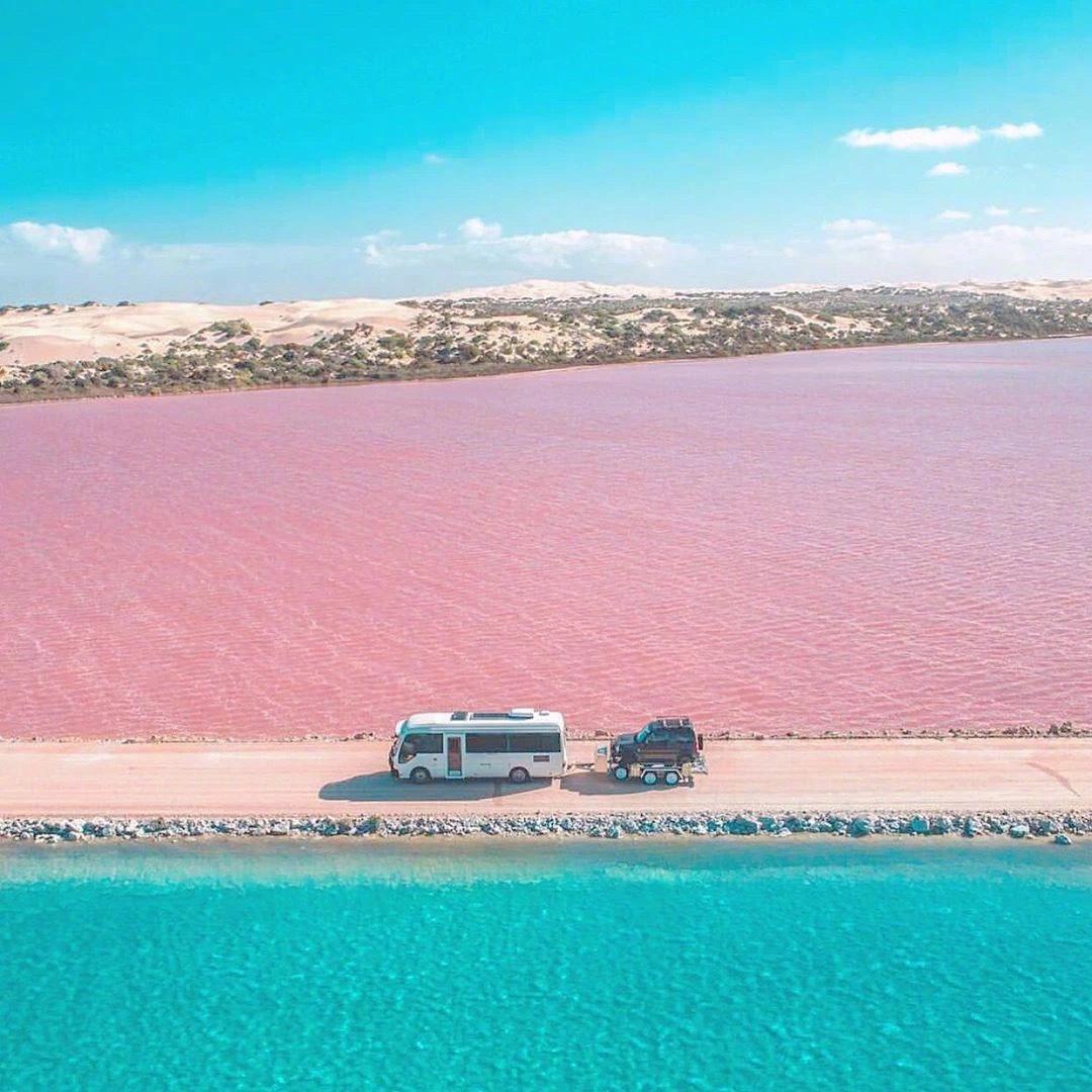 澳大利亚丨麦克唐纳尔湖,充满梦幻的少女心,看到这一抹粉红色