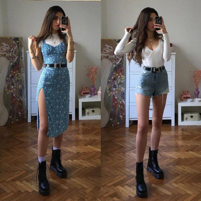 米兰博主Marina日常打扮兼具了少女心和清爽感