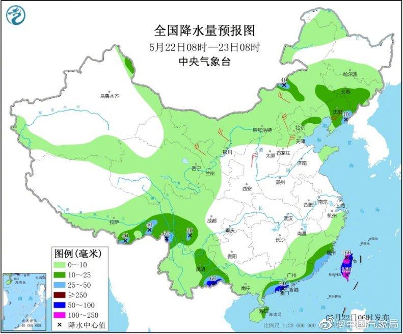 告诉你们个好消息:华南地区强降水快结束啦,但22日白天
