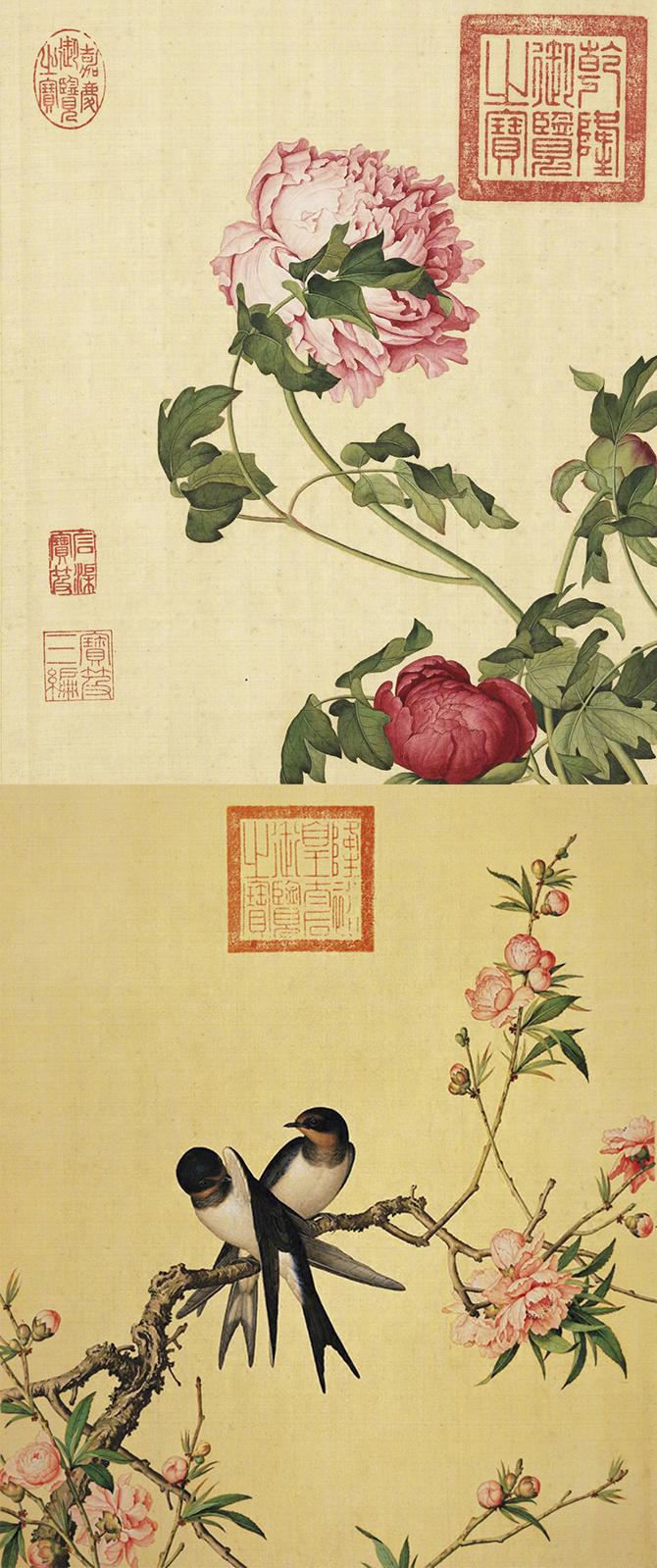 郎世宁《仙萼长春图册》台北故宫博物院藏