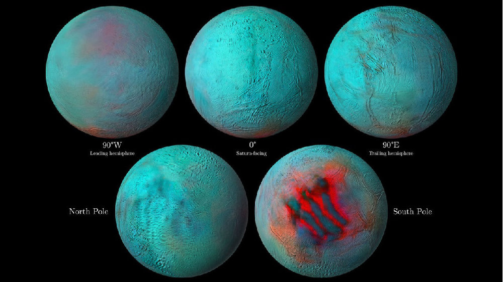 最新发现:土卫二北半球出现了新冰