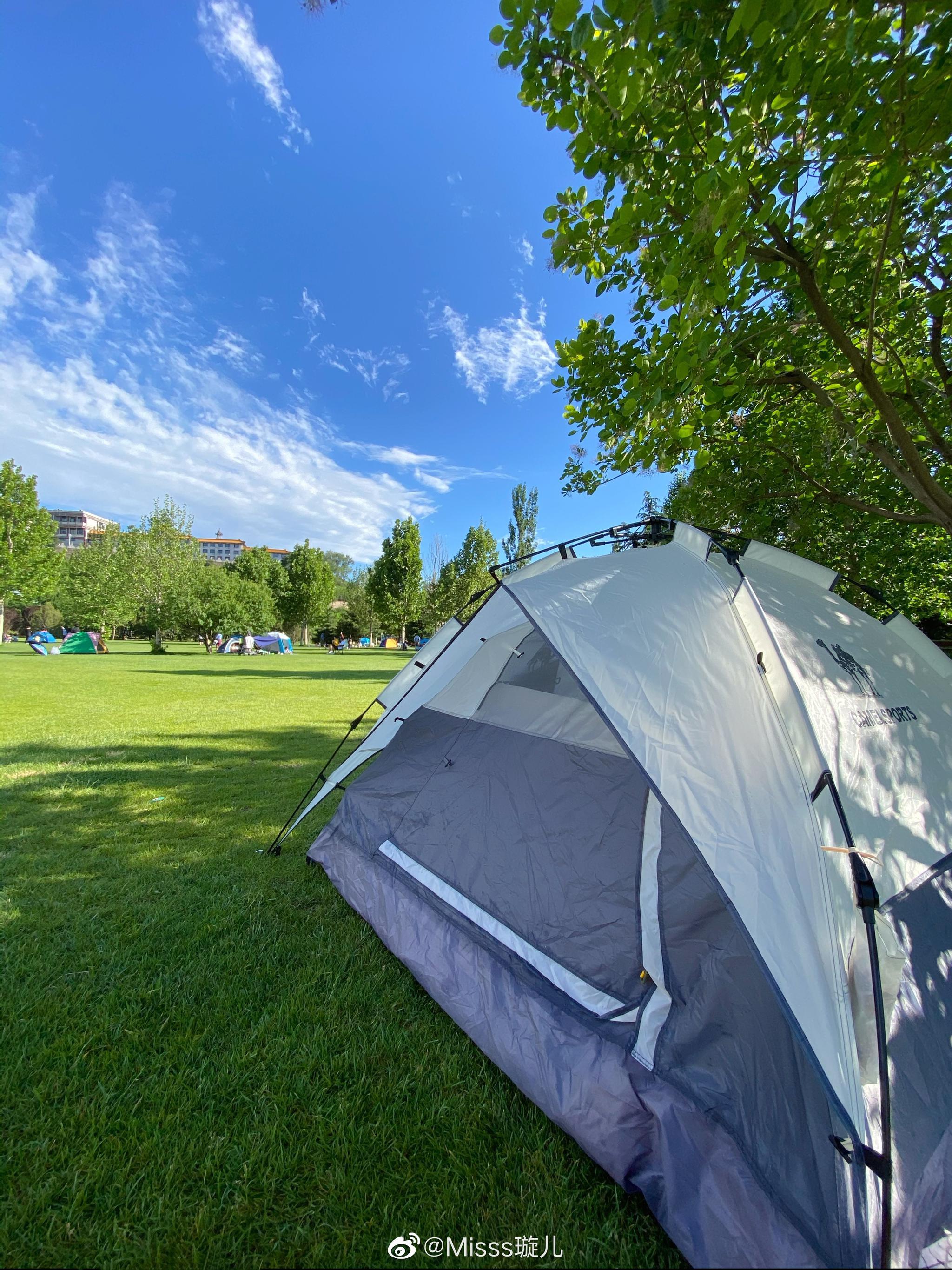 家庭露营日⛺️短暂的阴雨后 就是晴空万里🌈岁月静好 一切都太