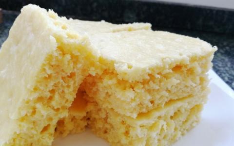教你零失败做玉米面发糕,手不沾面,一搅一蒸就好,省时又美味