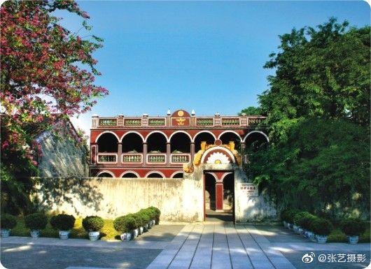 中国国父孙中山的故居,位于广东省中山市翠亨村,坐东向西
