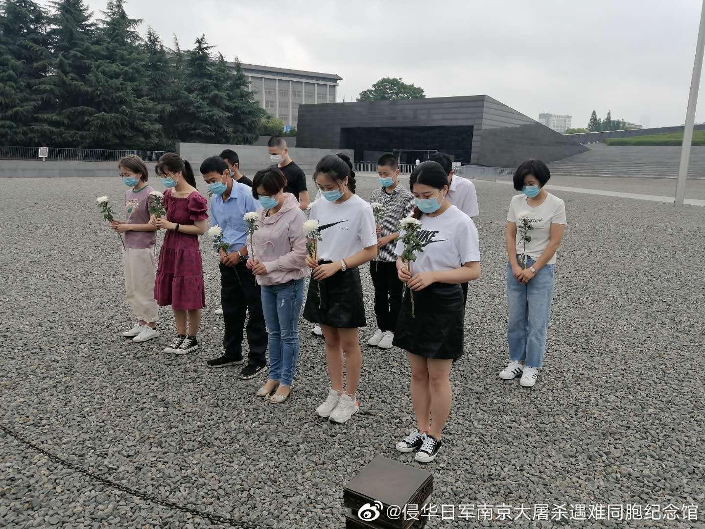 今天8点半,在我馆公祭广场准时响起,来自浙江的卢建晓、吴茜瑶