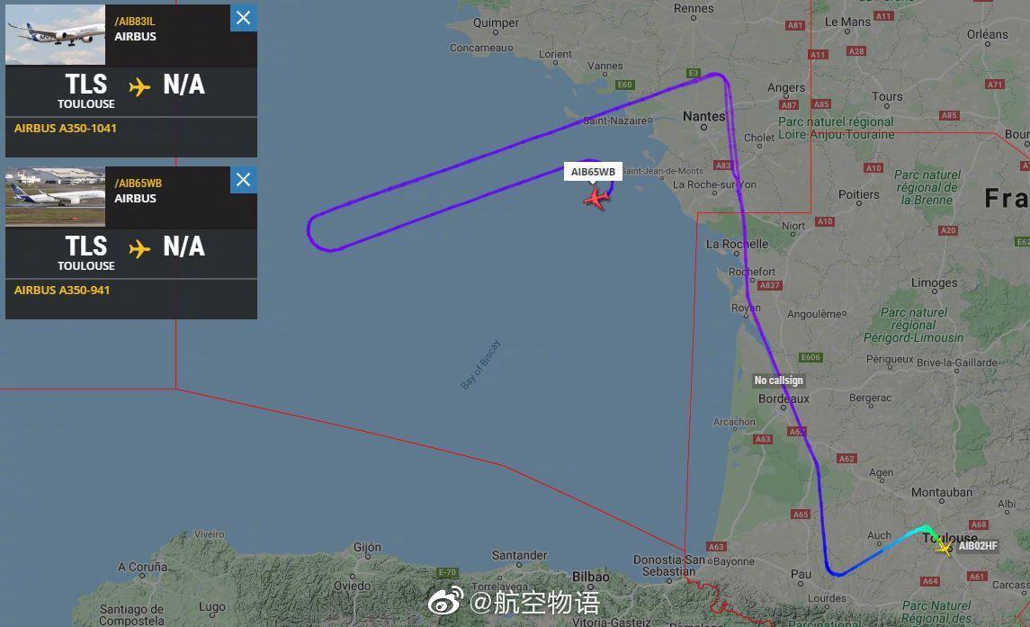 两架A350像鸟儿一样比翼齐飞 省油新技能get✓
