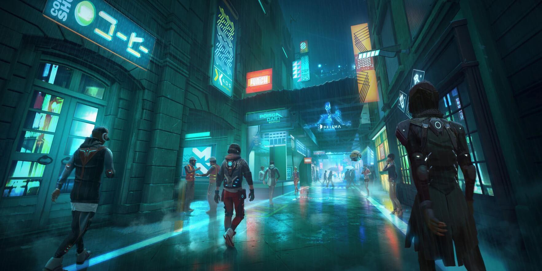育碧3A大逃杀游戏《Hyper Scape》首批概念图公布