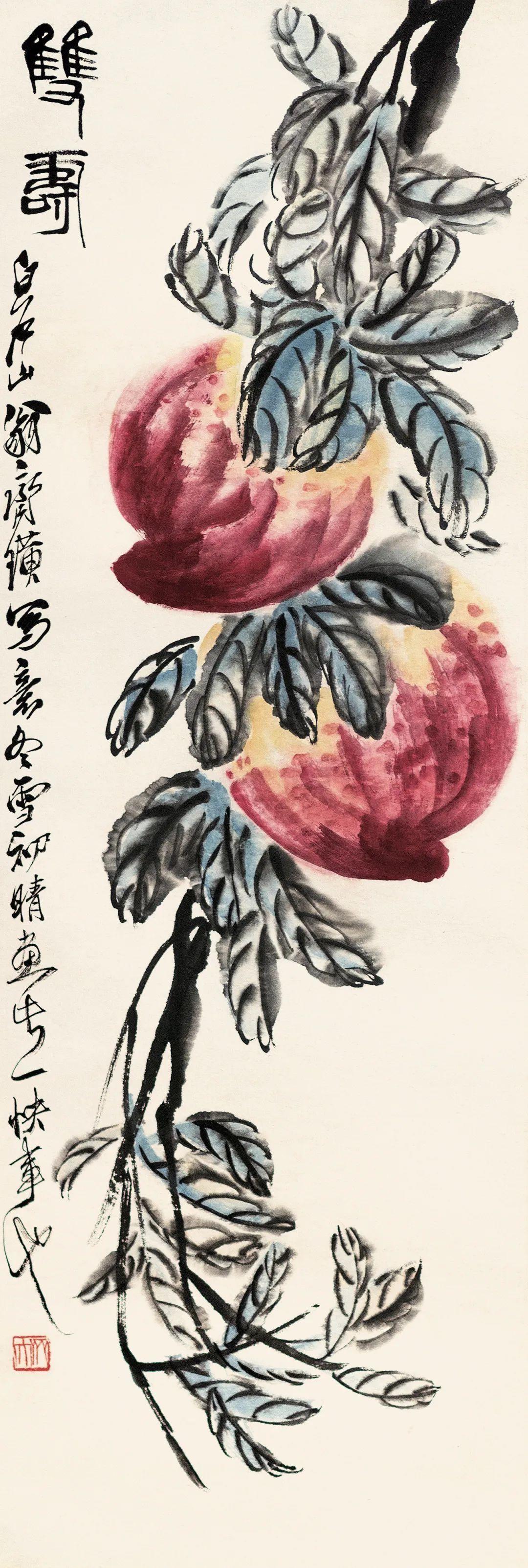 """齐白石衰年变法后开创了独步画坛的""""红花墨叶""""派"""