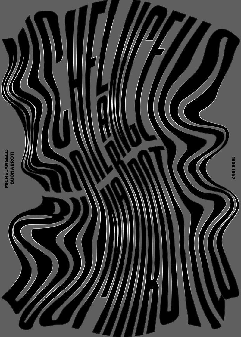 字体海报设计欣赏,高窄的线性字体设计,极具个人特色