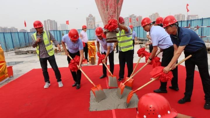 石家庄棉五社区改造项目一期一标段1-1楼封顶