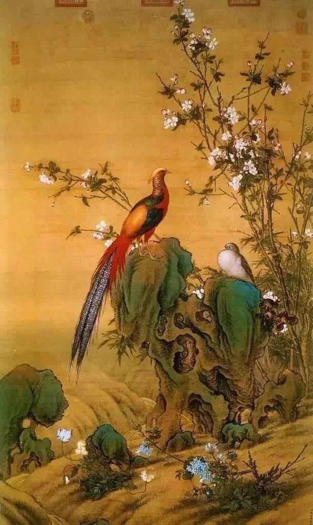 这些花鸟,都是清宫绝顶级的 作品。《鸟谱》共十二册