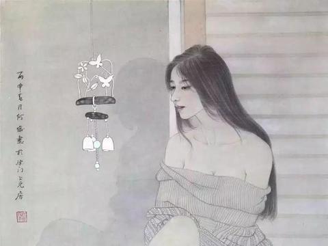青年艺术家何俊工笔画中的别样东方古典少女韵味