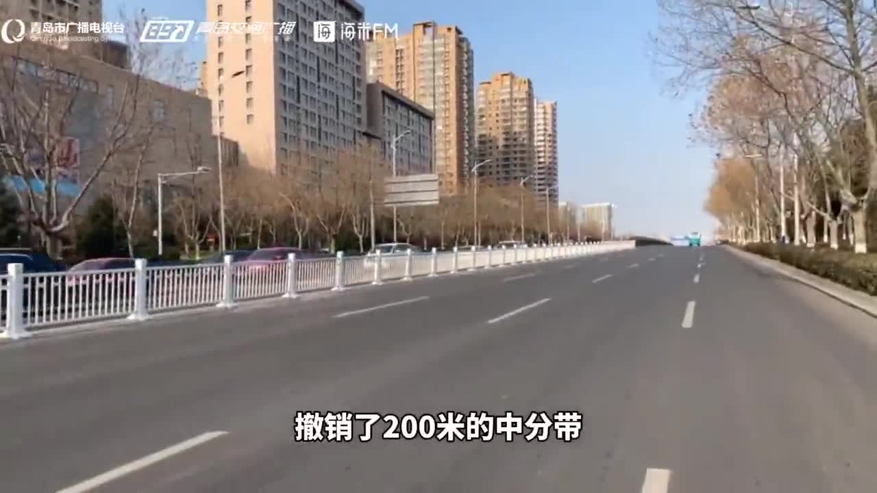 """青岛这个""""全国百大拥堵路口"""",变了!"""