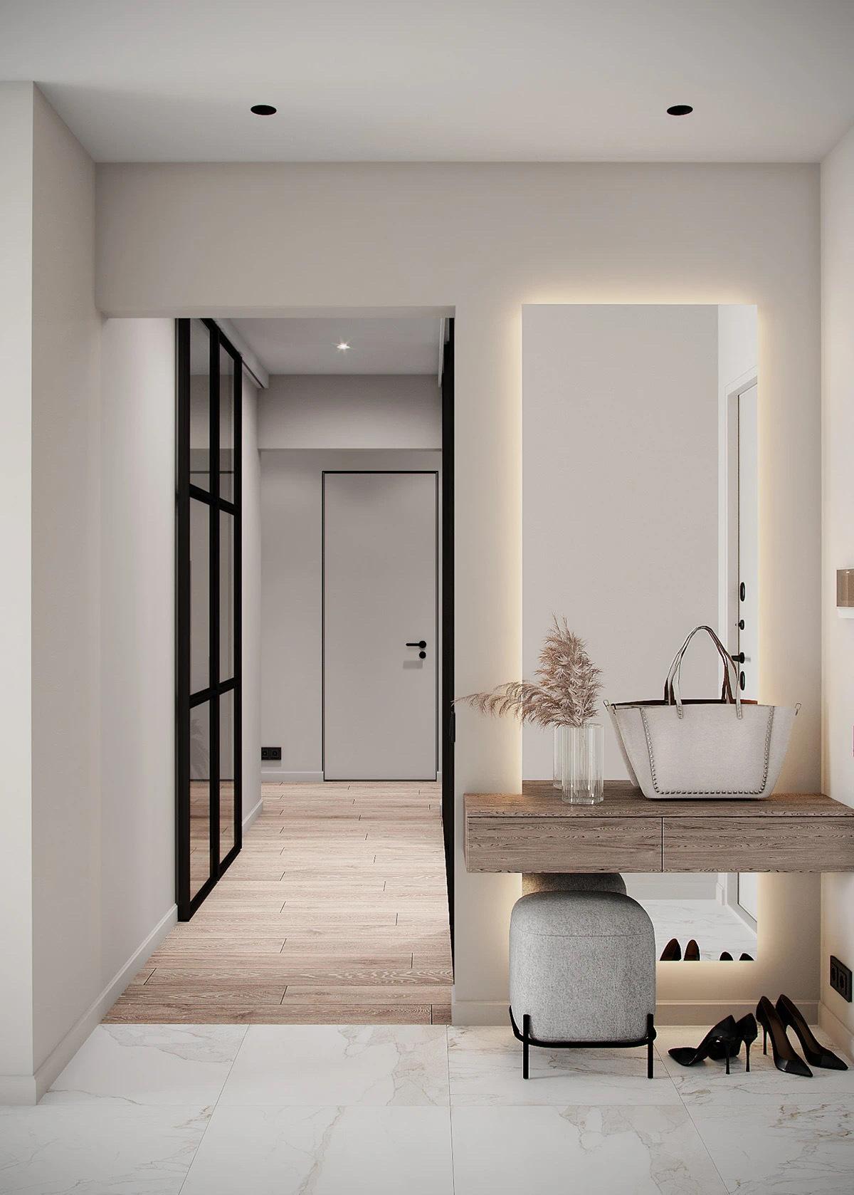 现代性、舒适性、浅色调、空间的通风和开放性BODES Studio