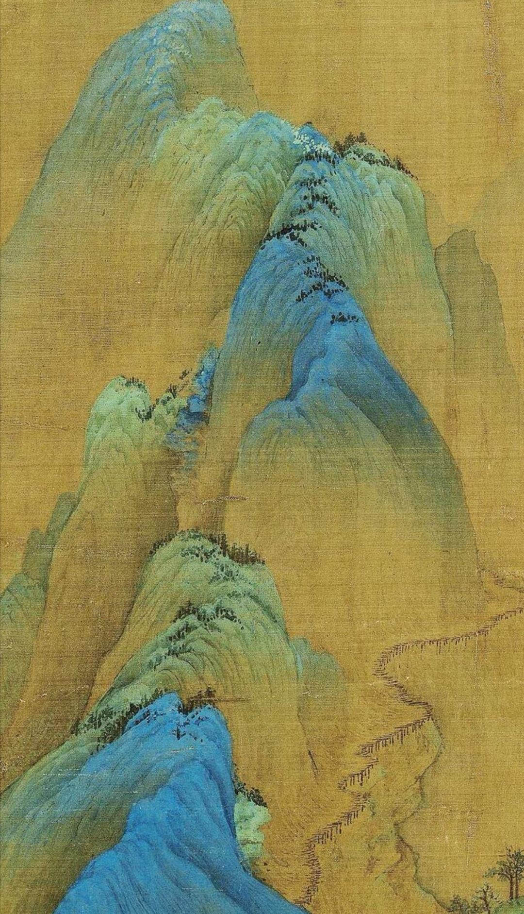 王希孟 · 《千里江山图》 局部欣赏 …