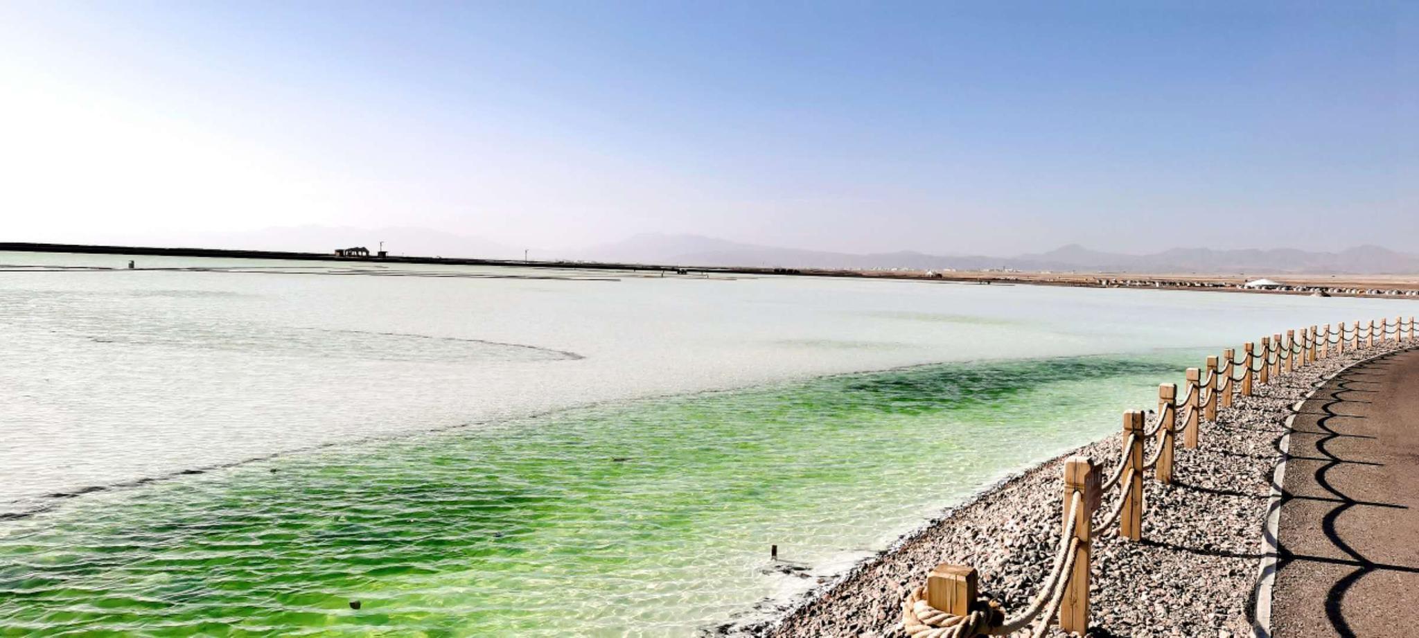 天空之境,万里无云,你好,这里是茶卡盐湖。