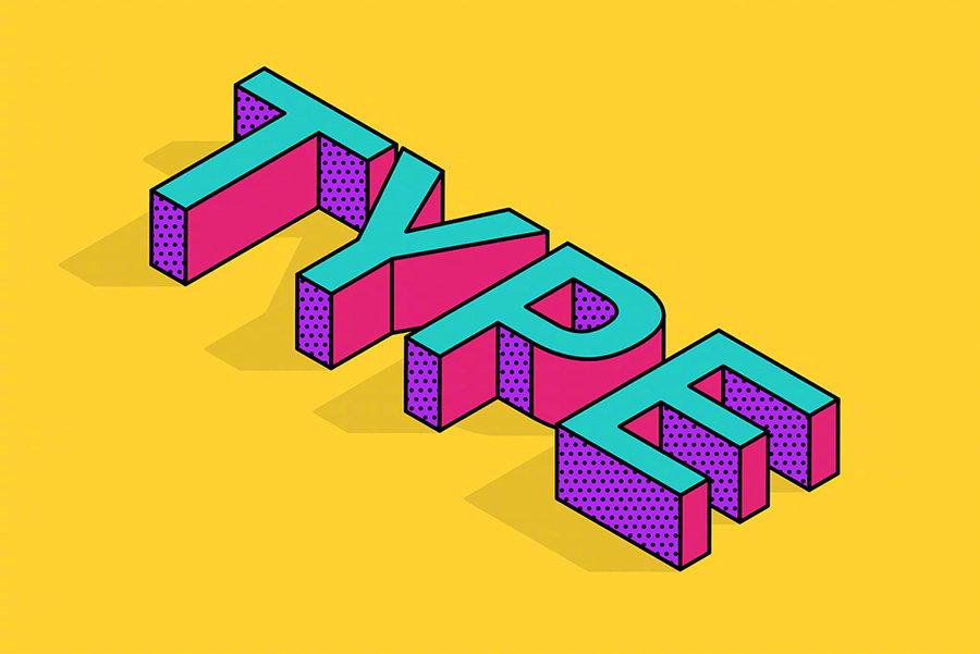 给大家分享一个运用AI设计打造好看的3D趣味立体字!教程难度不大