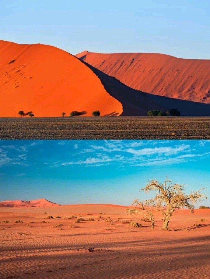 纳米比亚,拥有世界上最美、最古老的红沙漠,火焰与海洋并存