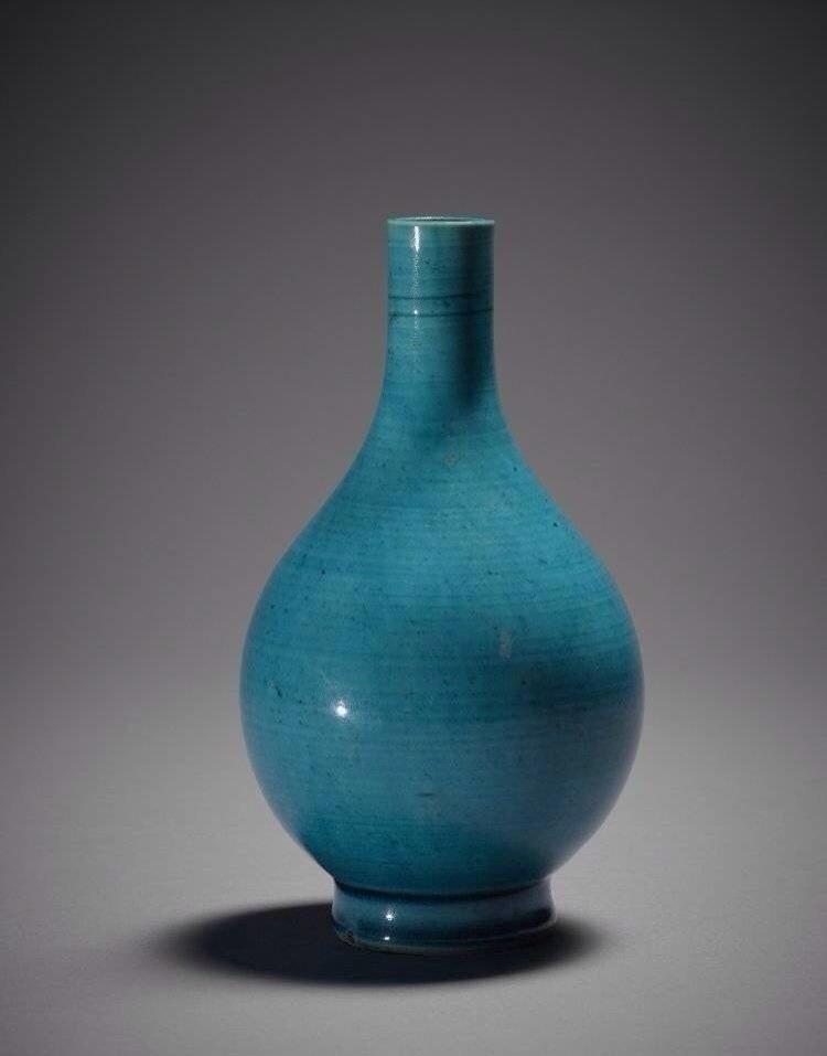 『 清康熙 · 孔雀蓝釉瓷… 』