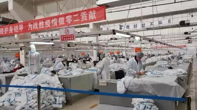 石家庄际华3502公司20余万套防护服出口9个国家