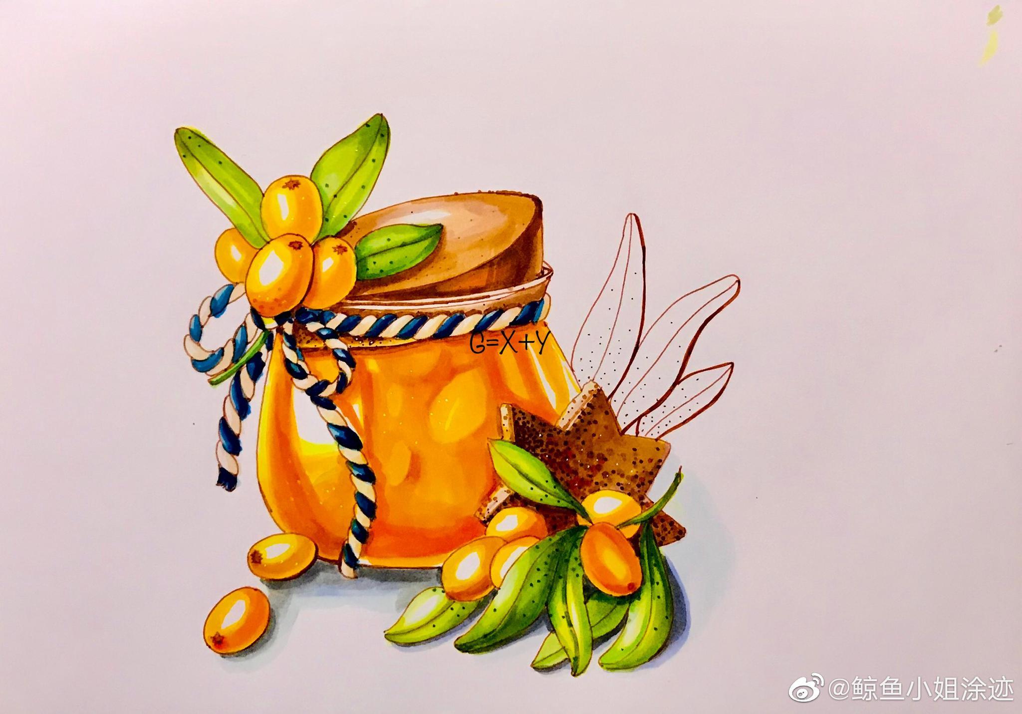 临摹小橘子🍊酱~~| 作者:@鲸鱼小姐涂迹
